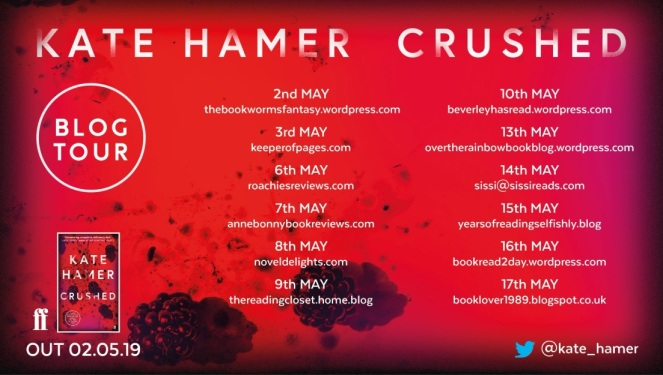 crushed blog tour
